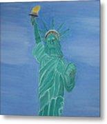 Enterprise On Statue Of Liberty Metal Print