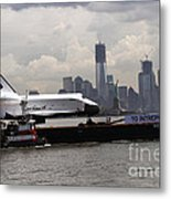 Enterprise To The Intrepid Air And Space Museum Metal Print