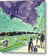 Entrance To A Large Garden In Dresden Metal Print by Ernst Ludwig Kirchner
