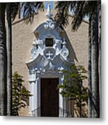 Entrance To Congregational Church Metal Print