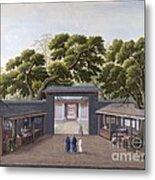 Entrance To Honam Temple, China, 1800s Metal Print