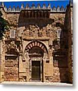 Entrance To The 10th Century Mezquita Metal Print