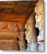 Entrance To The Great Temple Of Ramses II Metal Print
