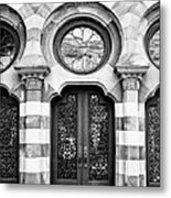 Entry Bw Charleston Sc Metal Print