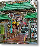 Entry Gate To Chinatown In San Francisco-california Metal Print