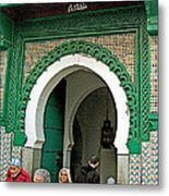 Entry To A Mosque For Men Only In Tangiers-morocco Metal Print