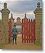 Entry To Fortress In Louisbourg Living History Museum-1744-ns Metal Print