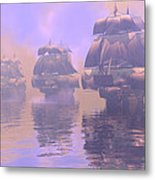 Enveloped By Fog Metal Print
