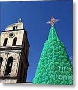Environmentally Friendly Christmas Tree Metal Print