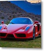 Enzo Ferrari Bold Metal Print