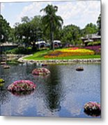 Epcot Center Flower Festival 1 Metal Print
