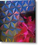 Epcot Centre Abstract Metal Print