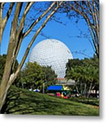 Epcot Globe Walt Disney World Metal Print
