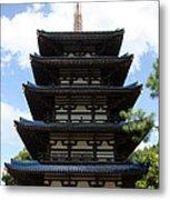 Epcot Pagoda Metal Print