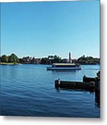 Epcot World Showcase Lagoon Panorama 01 Walt Disney World Metal Print