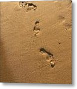 Ephemeral Footprints  Metal Print