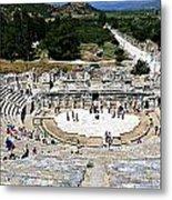 Theater Of Ephesus Metal Print