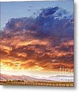 Epic Colorado Country Sunset Landscape Metal Print