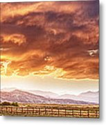 Epic Colorado Country Sunset Landscape Panorama Metal Print
