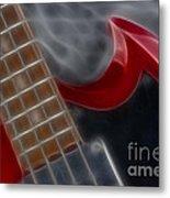 Epiphone Sg Bass-9205-fractal Metal Print
