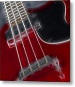 Epiphone Sg Bass-9241-fractal Metal Print
