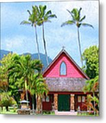 Episcopal Church In Kapaa Metal Print
