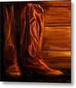 Equestrian Boots Metal Print