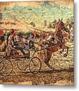 Equestrian Folklore Metal Print by Ernestine Manowarda