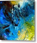 Equus Blue Ghost Metal Print