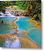 Erawan Waterfalls Thailand Metal Print