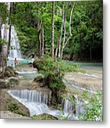 Erawan National Park In Thailand Metal Print