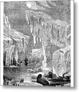 Erebus And Terror In The Ice 1866 Metal Print