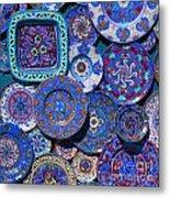 Erice Italy Plates Blue Metal Print