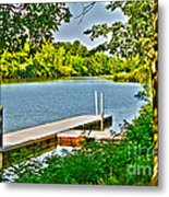 Erie Canal Dockage Metal Print