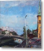 Erie Canal In Lockport Metal Print