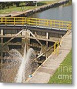 Erie Canal Lock Metal Print