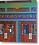 Erie Lackawanna Terminal Doors Hoboken Metal Print