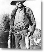 Ernest Hemingway Fishing Metal Print