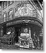 Ernst Roebers Saloon - Manhattan - 1908 Metal Print by Daniel Hagerman