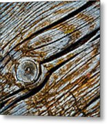 Eroded Old Wooden Board Metal Print