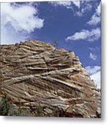 Eroded Sandstone Zion Np Utah Metal Print