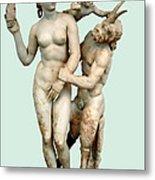 Aphrodite, Pan And Eros Metal Print