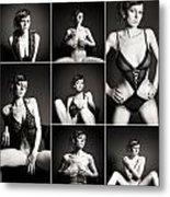 Erotic Beauty Collage 15 Metal Print
