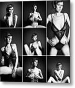 Erotic Beauty Collage 16 Metal Print