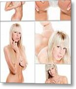Erotic Beauty Collage 17 Metal Print