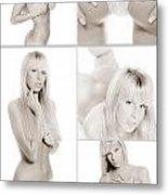 Erotic Beauty Collage 18 Metal Print