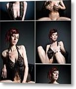 Erotic Beauty Collage 23 Metal Print