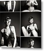 Erotic Beauty Collage 24 Metal Print
