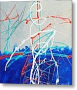 Erupting Blues Metal Print