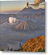eruption at Gunung Bromo Metal Print